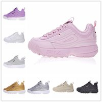 Wholesale red files - 2018 Original white black grey yellow II 2 FILA Women men FILE special section sports sneaker running shoes increased shoes 36-44