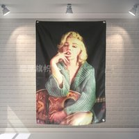 Marilyn Monroe Flag Banner Sexy lady Beauty and Art Home Decoration Hanging flag 4 Gromments in Corners 3*5FT 144cm*96cm