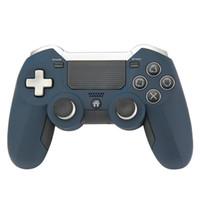controladores de juego joysticks para pc al por mayor-DLX Ultimate 2.4G controlador Gamepad inalámbrico para PS4 Game Controller vibración Joystick Gamepads para PC