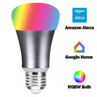 Wholesale green led bulb e14 - Smart WIFI Remote Control RGBW E27 LED Light Bulb,Compatible with Alexa & Google Home Assistant, Using Free App
