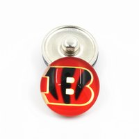 botões de botões de jóias venda por atacado-Atacado 20 pçs / lote time de futebol de futebol botões de pressão Fit 18 mm DIY Ginger Snap pulseira jóias