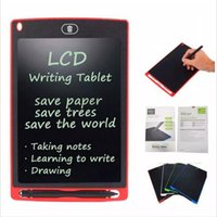 Wholesale drawing pads resale online - 8 Inch LCD Writing Tablet Digital Portable Memo Drawing Blackboard Handwriting Pads Electronic Tablet Board With Upgraded Pen for Kids DHL