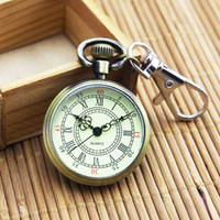 relógios digitais venda por atacado-Big dial clássico relógio de bolso chave digital claro Estudantes para o homem velho com um relógio de bolso