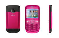ingrosso i telefoni cellulari rosa sbloccati-Telefono cellulare Nokia C3-00 2MP sbloccato originale C3 rinnovato Bluetooth blu oro rosa 3 colori Garanzia di un anno