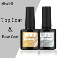 arte de uñas usando gel uv al por mayor-ROSALIND 10ML Top Coat Base Coat Gel Gel Nail Polish Gel Nail Art UV LED Soak-Off laca de gel multiusos