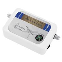 Wholesale Dvb Meter - DVB-T Finder Digital Aerial Terrestrial TV Antenna Signal Strength Meter White