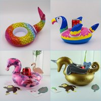 multi drink cup holders Australia - Inflatable Drink Cup Holder Mermaid Tail,Golden Pegasus, Colorful Parrot,Jumbo Flamingo Cup Holder Inflatable Pool Float Coaster Toys