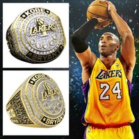 Wholesale Mens Rings Stones - Kobe retirement rings mens gold championship ring club man diamond ring fans collect souvenirs gemstone jewelry finger ring drop shipping