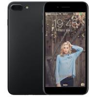 Wholesale Bluetooth V4 - ERQIYU goophone i8 plus V4 Touch ID fingerprint smartphone shown 4G LTE 128GB unlocked MTK6592 Octa Core back glass cell phones