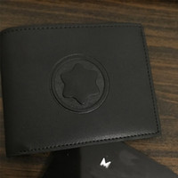 ingrosso portafogli in pelle unica-Nuovo di alta qualità MB classici uomini d'affari di lusso in vera pelle portafoglio unico titolare della carta di MT portafogli credito clip in contanti