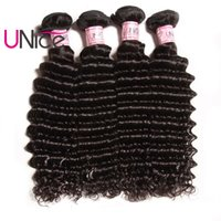 Wholesale cheap products - UNice Hair Indian Deep Wave Bundles Remy Brazilian Hair Extensions Unprocessed Human Hair Products Cheap Deep Weave Bundles
