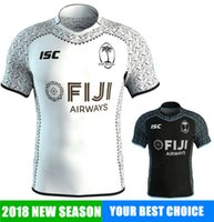 Wholesale rugby shirts cheap - New coming 18 19 FIJI AIG Super Rugby jersey all blacks Shirt teams Sport free shipping Wholesale Cheap Hot sale New Jerseys 2018 2018