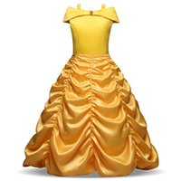 canavarın kıyafeti toptan satış-Kızın Elbiseleri Cadılar Bayramı Çan Prenses Elbise Güzellik ve Beast Kız Prenses Elbise Dış Ticaret Cosplay Kostüm B 001