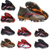 Wholesale Football Height - Predator 18+ 18.1 FG Soccer Cleats Chaussures De Football Boots Mens High Top Soccer Shoes Predator 18 Cheap New Hot