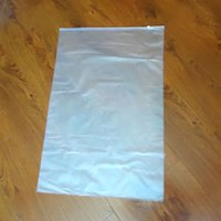 Wholesale Plastic Bags Slider - slider zip top pvc clothing bag clear and frosted sides 60*40cm slider plastic bag 30pieces lot