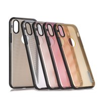 Wholesale stripe iphone hard case for sale - Fashion Transparent Stripe Soft TPU Phone Case Hard Clear PC Housing Back Cover For iPhone X All inclusive Protective Cover