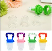Wholesale Wholesale Fresh Food - fresh Fruits Food Feeder Silicone Baby Pacifier Infant Nipple mini Feeding bottle juice cup Pacifier Fruits Feeder Weaning Nipple KKA4273