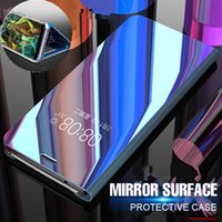 Wholesale pro mates - Luxury Mirror Flip Case For Huawei P20 Pro P20 Mate 10 Lite Full Cover For Huawei P20 Lite Mate 10 Pro Plating Shockproof Case