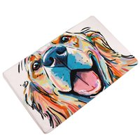 malen teppich großhandel-Moderne Schöne Tier Malerei Hunde Drucken Teppiche rutschfeste Bodenmatte Outdoor Teppiche Haustür Matten 2018ing