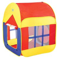 Wholesale children game house online - Kids Play Tent Portable Play Game House Indoor Outdoor Toy Tent Children Baby Beach cm High Quality