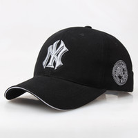 Wholesale printing ny - 2018 Baseball Cap NY Embroidery Letter Sun Hats Adjustable Snapback Hip Hop Dance Hat Summer Outdoor Men Women White Black Navy Blue Visor