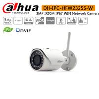 dahua 3mp kameralar toptan satış-Orijinal Dahua IPC-HFW2325S-W 3MP IR50M dahili WIFI SD Kart yuvası Ağ açık WIFI Kamera IPC-HFW1320S-W IP kamera yerine