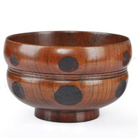 Wholesale jujube wood for sale - Group buy 10 CM Wooden Gourd Bowl Noodle Bowls Zizyphus Jujube Wood Safe Salad Bowls Soup Bowl Dinnerware Home Nice Tableware Free Ship