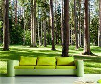 трехмерные обои оптовых-Пользовательские трехмерные настенные обои 3D фотографии настенная роспись пейзаж лесов нетканые обои Естественный на стене