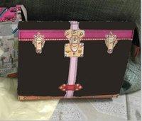 berühmtes zeug großhandel-Weiße / alte Blume / rechteckige Druckhandtaschenfrauen reisen Kosmetiktaschen der neuen Designerqualitäts-Mannwäschebeutel-berühmten Marke