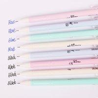 черная ручка оптовых-1 шт. небольшие свежие пластиковые гелевые ручки настроение исповеди подпись Pen иглы ручка для письма синий черный пополнения канцелярские принадлежности G-3660