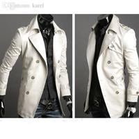 chaquetas largas de la caída del estilo al por mayor-Otoño-2015 moda elegante hombre gabardina, chaqueta de invierno, doble botonadura abrigo, abrigo prendas de vestir exteriores de lana larga jaqueta S-XXL 22