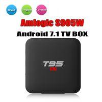 Wholesale tx2 tv box resale online - Hot T95 S1 Android Amlogic S905W STB tv box GB GB Flash K Smart Android TV Box BETTER TX3 X96 MINI TX2