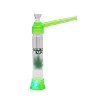 ingrosso tubo di plastica illuminante-Narghilè colorato trasparente in plastica facile da trasportare Clean Electron Light alta qualità tubo di fumo Tubo Shisha Design unico Vendita calda