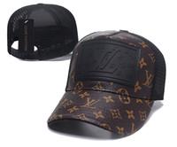 ingrosso palline in pelle-Cappelli da baseball stile classico Races Headwear Cappello da papà Kaws Berretto da baseball in pelle casual Berretti piatti firmati da uomo Autentico berretto da sole C001