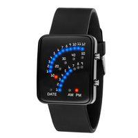 nouveau style garçons montres achat en gros de-Fantastique Nouvelle Arrivée Garçons Filles Style Japonais Horloge Électronique Numérique LCD Poignet Montre De Sport relogio masculino