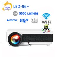 Wholesale 3d home theater screens resale online - New LED96 wifi LED Android D Projector lumens Video Full HDMI USB TV interface p Video Multi screen Home theater projector