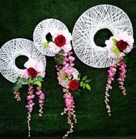 ingrosso pezzi decorativi casa-piatti decorativi bianchi per il pezzo decorativo della decorazione della parete della casa della decorazione della decorazione di wed
