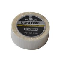 extensões de cabelo ultra venda por atacado-1.9 cm (3 / 4polegadas) * 3 Metros Branco Ultra Segurar Cabelo Dupla Face Adesivos Fita Para A Extensão Do Cabelo / Peruca / Lace Wigs Fita Adesiva Peruca