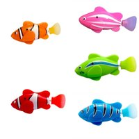 Wholesale robot electronics for sale - Robofish Emulational For Baby Bathing Swimming Electric Novel Robot Electronic Pets Fishes Machine Induction Paddle Clownfish New jy Z