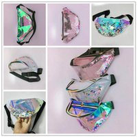 Wholesale women sexy angel costume for sale - 4 Colors Women Laser Clear Waistpack Quicksand Waist Fanny Bags Bling Bling Chest Bag Outdoor Translucent Beach Bag Fashion Storage Bag New