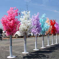 Wholesale cherry light tree green - 150CM Tall Upscale Artificial Cherry Blossom Tree Runner Aisle Column Road Leads For Wedding T Station Centerpieces Supplies