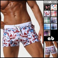 Wholesale shorts sunga online - Austinbem New Pocket Floral Men Swimwear Shorts Sexy Sunga Masculina Men S Swimming Trunks Men Briefs Bathing Sport Swimsuit