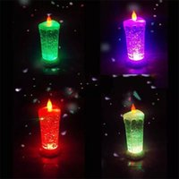 Wholesale Led Candles Sale - LED Candle Light USB Dazzle Color Rotate Sequins Lamp Discoloration Night Lights Plastic Novelty Items Hot Sale 15lh V