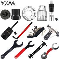 Wholesale repair bicycle chain - Bicycle Repair Tools flywheel remover socket bottom bracket removing socket tool chain cutter crank removing tool Bike Parts