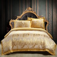 ingrosso set di piumini in cotone-22 colori 100% cotone lusso raso jacquard set di biancheria da letto ricopre set biancheria da letto piumone copripiumino matrimoniale