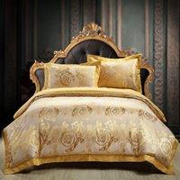хлопок сатин постельные принадлежности наборы оптовых-22 Colors 100% cotton  satin jacquard bedding sets embroidery comforter bedding sets queen size duvet cover bed sheet sets