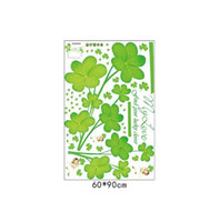 Wholesale wall stickers couple for sale - modern fashion green Clover wall stickers home decor living room couple bedroom wedding room decoration plant decals