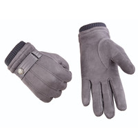 b0b7c6f61c80a Wholesale suede gloves women online - Autumn Winter Touch Screen Gloves  Cold Proof Mittens Driving Super