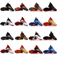 Wholesale Cheap Mens Soccer Cleats - 2018 original soccer cleats Predator 18+ FG chaussures de football boots mens high top soccer shoes Predator 18 cheap new hot