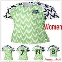 camiseta de fútbol juvenil verde al por mayor-2018 Mujeres Soccer Jerseys 18 IWOBI SHEHU 9 STARBOY 10 MIKEL IHEANACHO MUSA Custom Home Verde Mujer Hombres Niños Youth Football Shrits